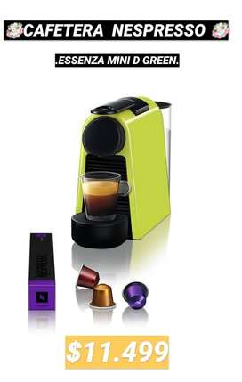 CAFETERA NESPRESSO ESSENZA MINI GREEN $