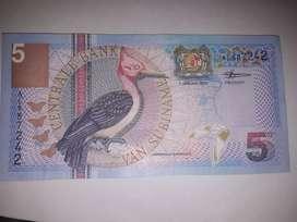 Billete 5 gulden año 2000