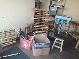 Vendo maquinas para construir instrumentos de viento