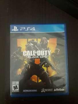 Juesgos de Ps4 Call of Duty Black ops 4, Watch dogs 2 y Fifa 16