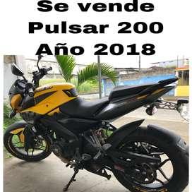 Moto pulsar 200cc