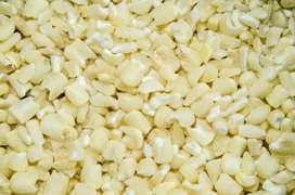 Maiz blanco Maiz trillado para