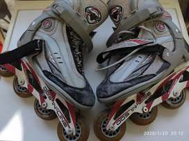 Patines rollers dos in line carrera