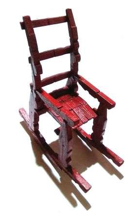 Adorno Silla Mesedora De 20cms Ideal Hogar Decoracion Mesa