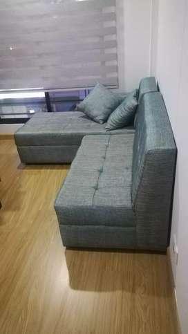 Sofa en L para apartaestudio
