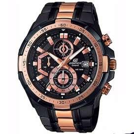 Relojes Casio Edifice EFR-539BKG-1AV Negro Y Oro Rosa