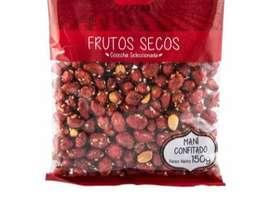 Deliciosos y Ricos pasabocas. Bolsa de una libra de frutosecos surtido. Maní Natural, maní rojo, uva pasas, maíz tostado