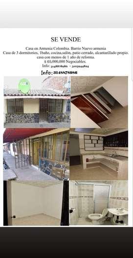 venta de casa Barrio nuevo armenia etapa lll armenia quindio