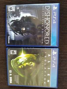 Alien Isolation y Dishonored PS4
