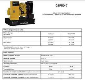 GRUPO ELECTROGENO OLYMPIAN GEP50-7 - MOTOSOLDADORA