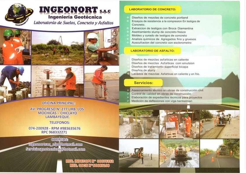 INGEONORT S.A.C. LABORATORIO DE SUELOS, CONCRETO Y PAVIMENTOS 0