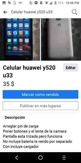 Vendo Celular Y520 U 33