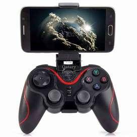 SEISA - Gamepad/Joystick/Mando BT Bluetooth + Sujetador para Celulares Android/iOS -Negro