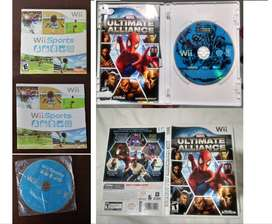 2 Wii Games Sports + Marvel Ultimate Alliance