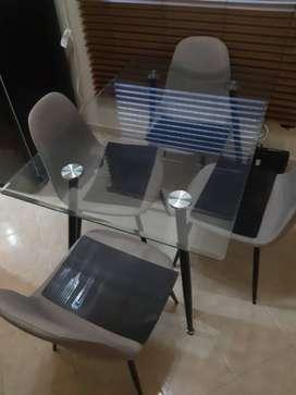 Mesa de cristal en venta