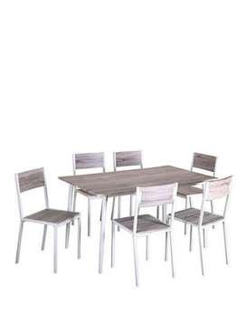 Juego mesa y 6 sillas comedor