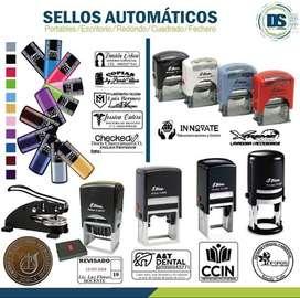 Venta de sellos Automaticos, Portables, sellos de Escritorio y sellos Secos.