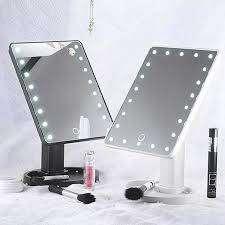 Espejo Para Maquillaje Giratorio Con Luces Led