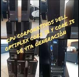 Cpu corporativos marca del optiplex, hp elite, core i3, core i5 de de 3ra y 4ta generación Windows 10
