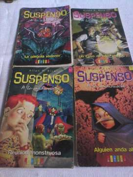 4 libros de la Colección suspenso 250 cada uno