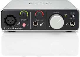 Interfaz de audio Focusrite itrack solo