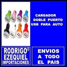 CARGADORES DOBLE USB PARA AUTO