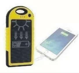 Powerbank Solar Cargador Celular 5 Ah C/ Linterna 2 Usb