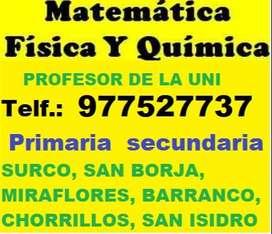 CLASES PARTICULARES DE MATEMATICA A DOMICILIO. PRIMARIA Y SECUNDARIA.