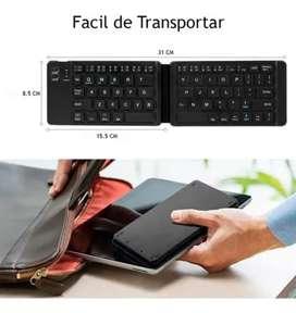 Mini teclado inalámbrico bluetooth Recargable plegable