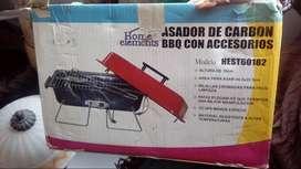 Asador de carbon BBQ con accesorios