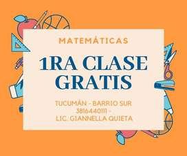 Profesor de Matemática Apoyo escolar Clases particulares Primaria