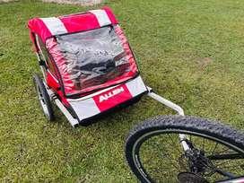 Remolque Allen Bicicleta - 2 Puestos - Para niños