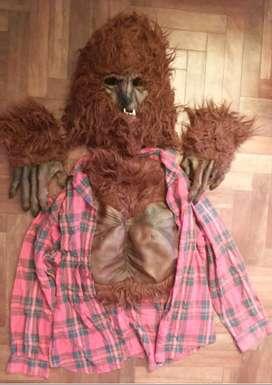 Disfraz del hombre lobo