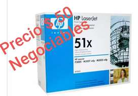 Vendo toner hp 51x negociable