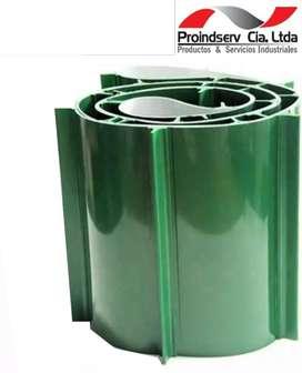 Bandas o Cintas Transportadoras de PVC - FDA con Empujadores