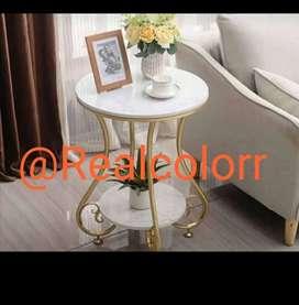 Vendemos mesa de centro con base de piedra con estructuras en metal pintadas con pintura electrostatica