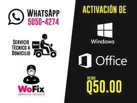 Activación de Windows y Office a Domicilio