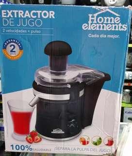 Se vende extractor de jugo home elements