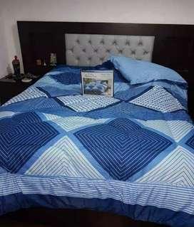 Edredón Azul con Celeste