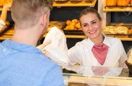 Se necesita vendedora para atencion al cliente en Panaderia