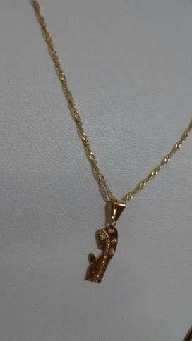 Cadena Virgencita Oro 14kgp