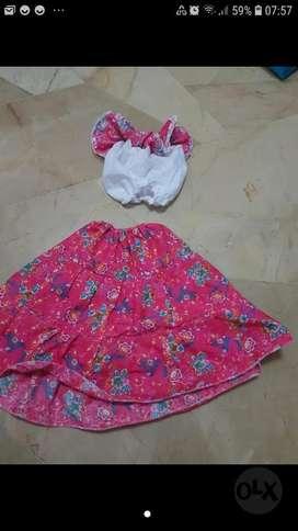 Disfraz Vestido Campesina Talla 4 Años