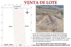 Se vende lote en la parroquia Malacatos sector San José de Ceibopamba