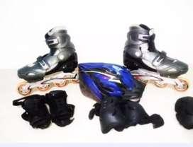Patines semiprofesionales expandibles marca Roller, con todos los accesorios