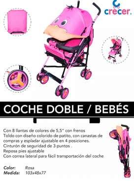 Coche Para Bebe Tipo Paraguas Con Sombrilla 4 Posiciones