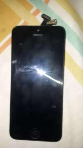 Display del iphone 5 con todo