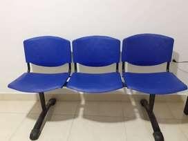 Silla de sala de espera 3 puestos (En oferta)