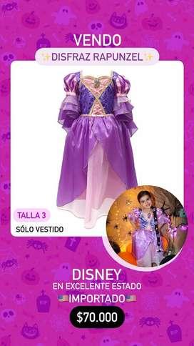 Disfraz Rapunzel Disney (Talla 3)