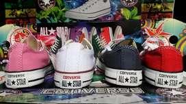 Converse para ninas y ninos diferentes colores a media caña y bota