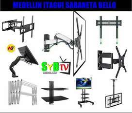 Venta e instalación  soportes y bases tv  repisas tendederos  de ropa mallas de seguridad  decodificadores antes tdt